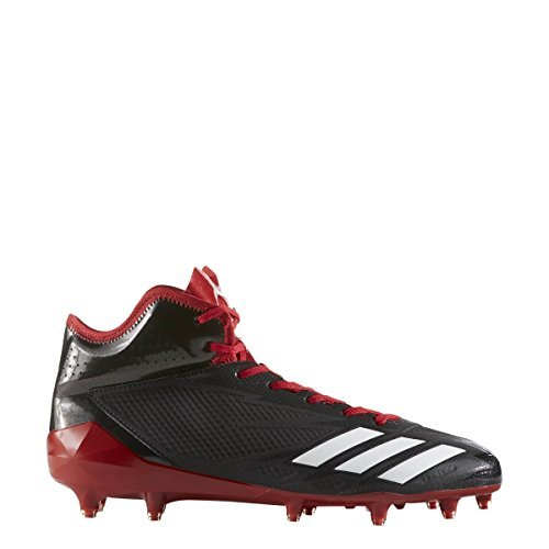 Adidas Adizero 5Star 6.0 Mid Cleat Men's Football 11.5 Core Black-White-Power Red