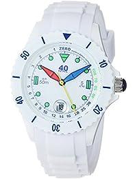 Women's Quartz Plastic and Silicone Casual Watch, Color:White (Model: 40NINE03/FUN50)