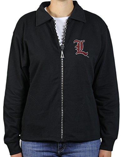 NCAA Louisville Cardinals Crystal Zipper Jacket, 2X, Black