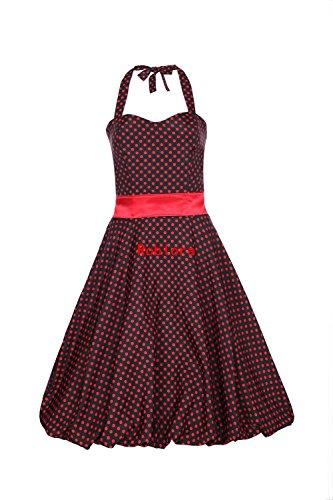 ROBLORA - Vestido - Corsé - Sin mangas - para mujer noir pois rouge