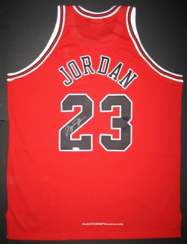 cheap for discount 074a8 bfc68 Michael Jordan Autographed Red Bulls Jersey at Amazon's ...
