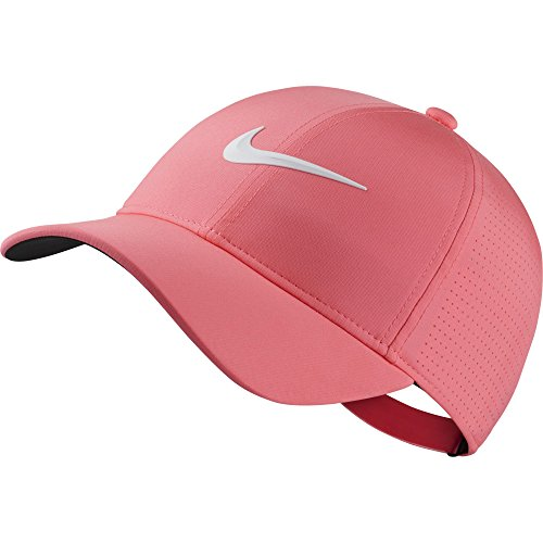 NIKE Women's AeroBill Legacy 91 Perforated Cap, Sunset Pulse/Anthracite/White, One - Tennis Nike Hat Dri Fit