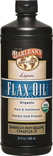Barlean's Organic Oils Lignan Flax Oil, 32-Ounce Bottle (Pack of 3 (32 fl oz ea)) by Barlean's Organic Oils