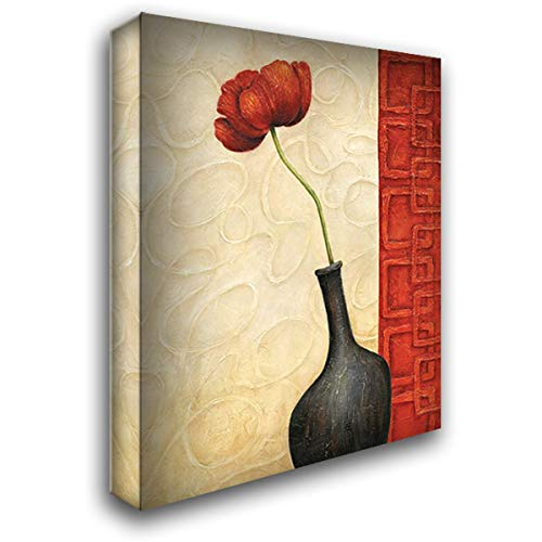 Rouge II 20x24 Gallery Wrapped Stretched Canvas Art by Corbin, Delphine