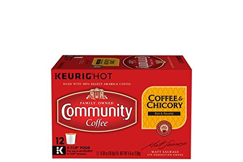 Community Coffee & Chicory Single-Serve K-Cups, 12 Count - New Orleans Coffee Roasted