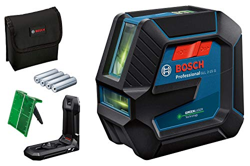 Bosch Professional Nivel Láser de interior GLL 2-15 G (láser verde, soporte LB 10, alcance visible: hasta 15m, 4x pilas AA, en caja)