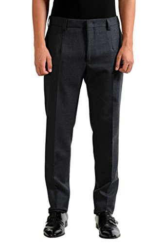 Fendi Men's Gray 100% Wool Pleat Dress Pants US 32 IT (Fendi Wool)