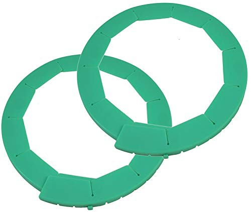- Silicone Pie Crust Shields (2 pack), Adjustable Pie Protectors, Green