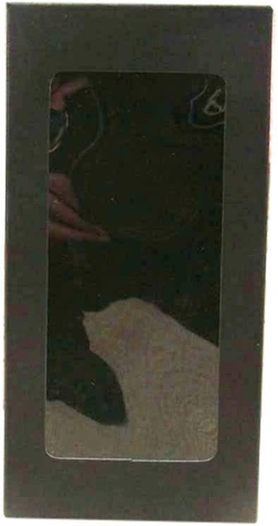 Caja regalo BLTLYX 50uns Blanco/Negro/Rojo/Kraft Caja De Papel De Stock Con La Ventana Limpia Del Pvc Regalo Caramelo De La Boda Embalaje De La Boda 7x7x14cm Negro 2