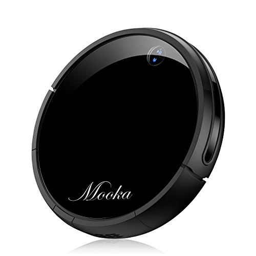 MOOKA Robotic Vacuum Cleaner, Tangle-free Suction for Pet Hair, Anti-Bump, Rechargeable Battery, Drop-Sensing Technology and HEPA Style Filter, Hard Floor - Cleaning Robot by MOOKA