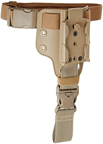 Safariland Tactical Small Leg Shroud, One Elastic Strap with Removable Harness (Brown STX Plain Finish)