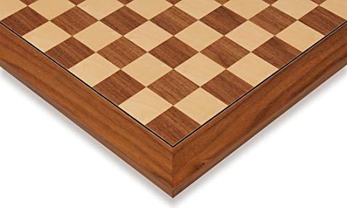 Black Walnut & Maple Deluxe Chess Board - 1.5
