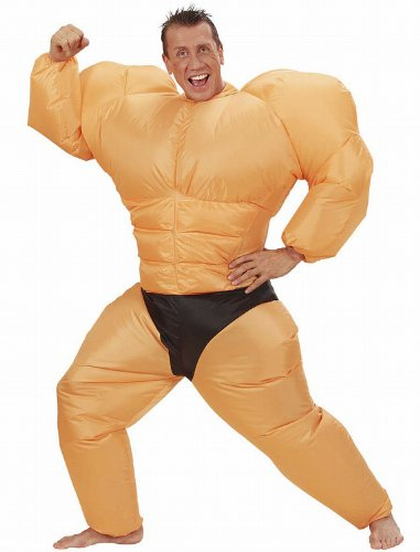 Inflatable Bodybuilder Costume
