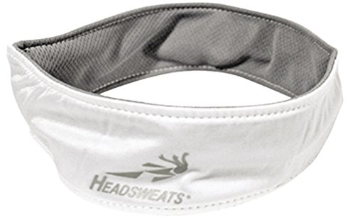 Headsweats Performance UltraTech Running/Outdoor Sports Headband, White Coolmax Headband