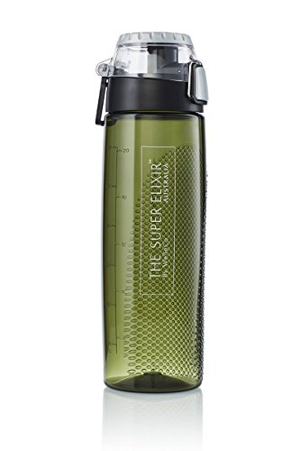 Thermos 24 Ounce Tritan Hydration Bottle with Meter, Olive Green