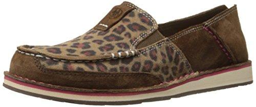 Ariat Women's Cruiser Slip-on Shoe, Dark Earth/Cheetah, 7 B US