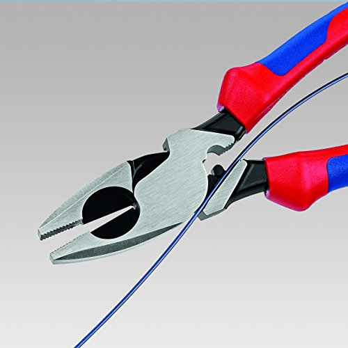 Knipex 09 12 240 SBA 9.5-Inch Ultra-High Leverage Lineman's Pliers with Fish Tape Puller and Crimper by KNIPEX Tools (Image #1)