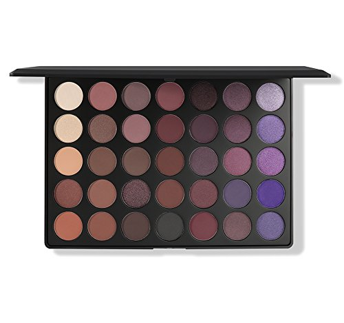 Morphe Pro 35 Color Eyeshadow Makeup Palette Plum Palette 35P - Professional matte eyeshadow palette with intense pigment (Must Have Mac Eyeshadows For Green Eyes)