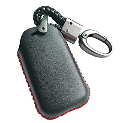 Black Leather Cover Key Fob Case Protector Jacket Remote Holder For 2015 2016 2020 2020 2020 Honda Accord Civic CR-V CRV Pilot EX EX-L Touring Premium: Automotive