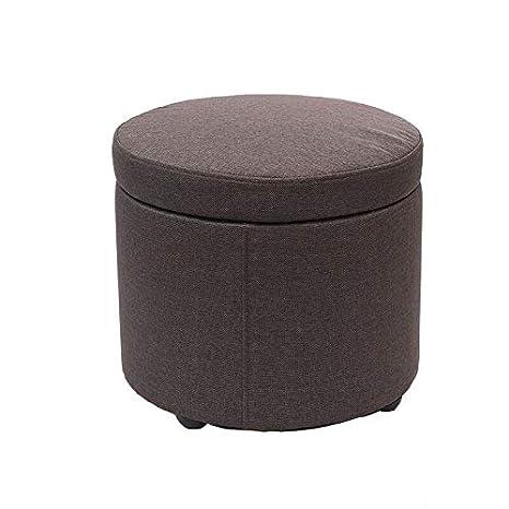 Marvelous Amazon Com Jjxzm Footstool Round Ottoman Storage Stool Seat Pabps2019 Chair Design Images Pabps2019Com
