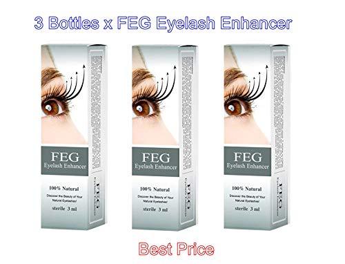3 X FEG Eyelash enhancer!!! 3 pieces of most powerful eyelash growth Serum 100% Natural. Promote rapid growth of eyelashes!!!