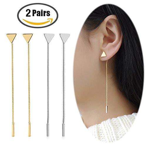 Bar Drop Dangle Earrings - 6