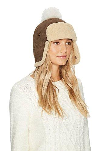 Ugg Shearling Hat - UGG Women's Pom Waterproof Sheepskin Hat Slate Curly One Size