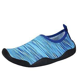 AFFINEST Boys Girls Lightweight Aqua Sock Quick-Dry Water Shoes Kids For Beach Swim Surf Yoga Exercise(Blue,29)