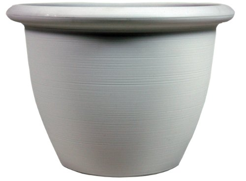 UPC 056554824371, Listo 9-Inch Everyday Sevilla Planter, Satin Grey