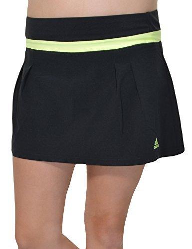 Adidas Climalite Pleated ALine Athletic Skort (Black/Glow, Small) by adidas