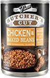 Vietti Butcher's Cut Chicken & Baked Beans in Brown Sugar & Bourbon Sauce 15 oz (Pack of 6)