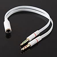 Want 3.5mm Headphone Mic Audio Y Splitter Cable Female to Dual Male Converter Adapter offer