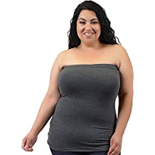 Stretch is Comfort Women's Cotton Strapless Tube Top