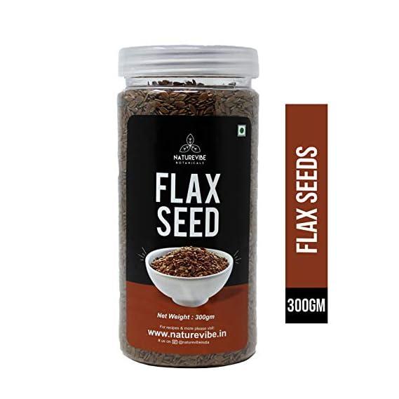 Naturevibe Botanicals Flax Seeds, 300 g