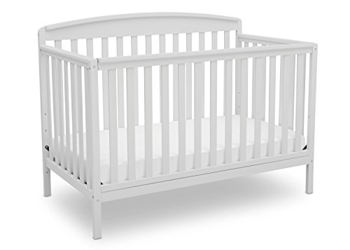 Delta Children Brayden 4-in-1 Convertible Baby Crib, Bianca White