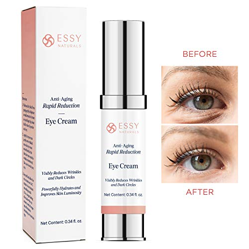 417ezGWH4TL - EssyNaturals.Anti-Aging Rapid Reduction Eye Cream - Visibly and Instantly Reduces Wrinkles, Under-Eye Bags, Dark Circles in 120 Seconds