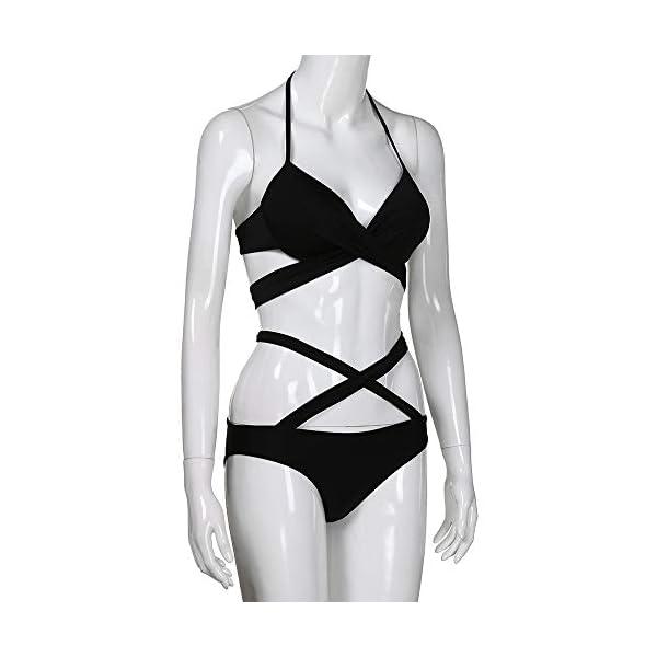 Rawdah-- 2020 2pcs Costumi Donna Mare Due Pezzi Push up Sexy Costume Donna Due Pezzi Bikini Donna Imbottito Reggiseno… 4 spesavip