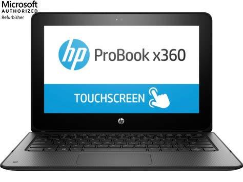 HP ProBook x360 11 G1 EE 11.6″ Touchscreen Notebook, Intel Celeron N3350, 4GB RAM, 64GB eMMC, Webcam, Win10 Home (Renewed)