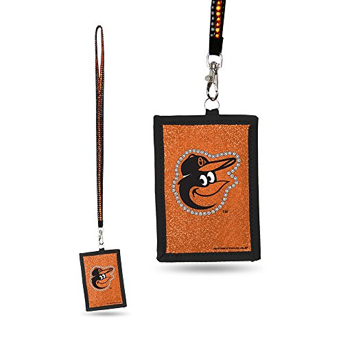 MLB Baltimore Orioles Beaded Gem Lanyard with ID Wallet (Beaded Gem)