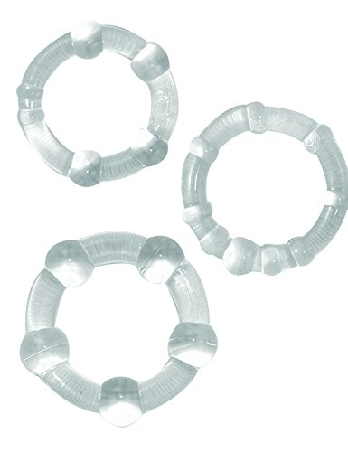 Ram Beaded Rings - Clear Pack of 3