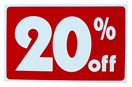 1Set of Reasonable Unique Sale 20% Percent Off Sign Business Discount Retail Message House Tags Outdoor Banners Kit Store Banner Homes Land Decals Display Yard Signage Pricing Poster Real Size 7