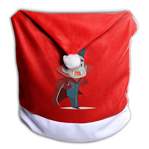 Cartoon Animation Halloween Happy Vampire Non-Woven Xmas Christmas Themed Dinner Chair Cap Hat Covers Set Ornaments Backers Protector for Seat Slipcovers Wraps Coverings Decorations -