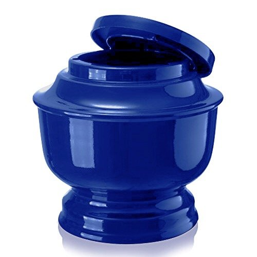 Classic Funeral Cremation Urn for human Ashes a Variety of Colors available Adult Urn with velvet bag (Blue)