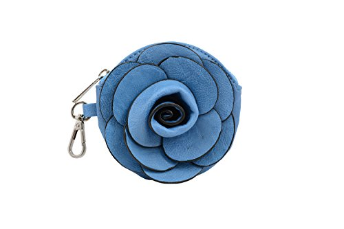 Blue Riverside Flower Wristlet Coin World Mellow Camellia fqXEwPxnY