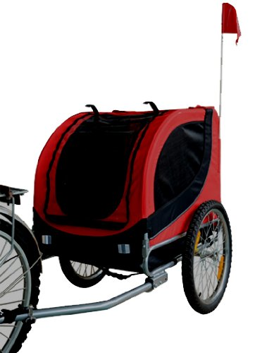 MDOG2 MK0001 Comfy Pet Bike Trailer, Red/Black by MDOG2