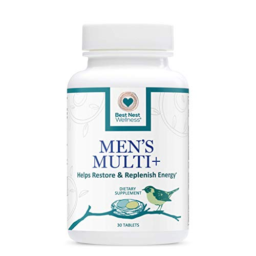 Best Nest Mens Multi+ | Methylfolate, Methylcobalamin (B12), Multivitamins, Probiotics, Made with 100% Natural Whole Food Organic Blend, Once Daily Multivitamin Supplement, 30 Caplets…