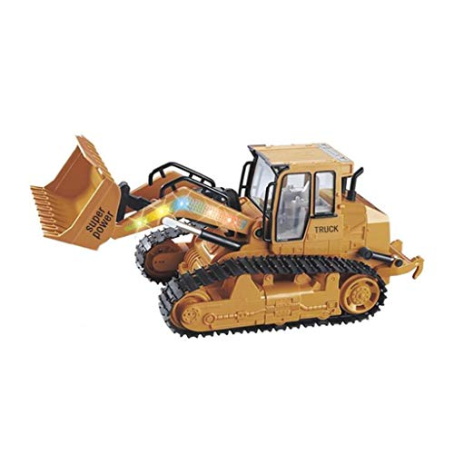 Ackful 1:12 RC Excavator Shovel Remote Control Construction Bulldozer Truck Toy Light (Bruder Toys Mack Granite Liebherr Crane Truck)