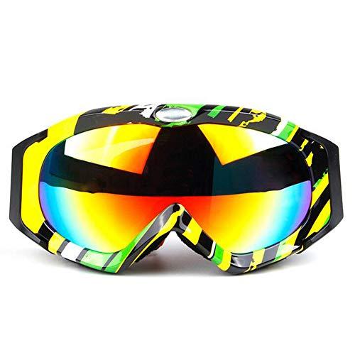 LAIABOR Gafas Patinaje De Esquí Lentes Motocross para Hombres Mujeres Jóvenes Patinaje De Esquí De Motos,Lostrainbow