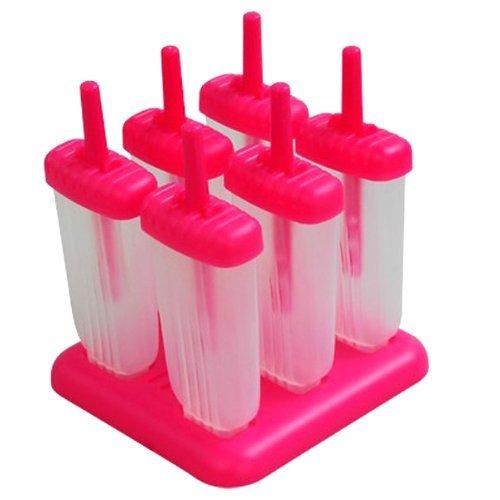 NO:1 6 Eisform am Stiel,Eisformen,Eiszubereiter,Rosa mit Streifen-Typ