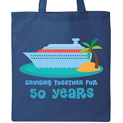 Inktastic - 50th Anniversary Cruise Ship Tote Bag Royal Blue ()